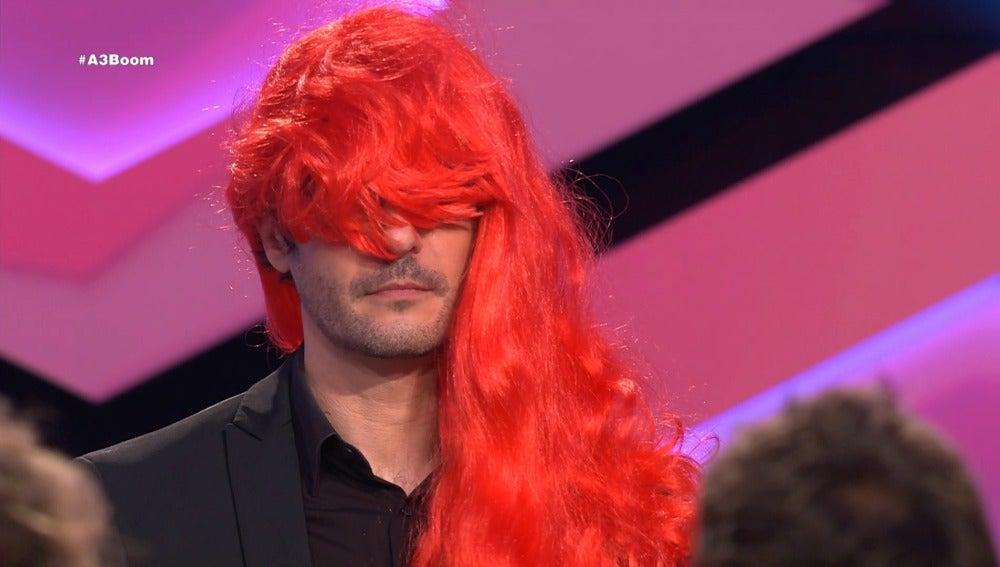 Juanra Bonet se pone una peluca en '¡Boom!'