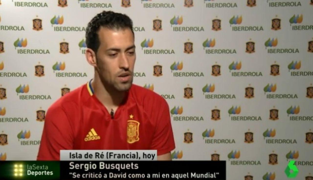 Sergio Busquets, en la concentración de la Selección