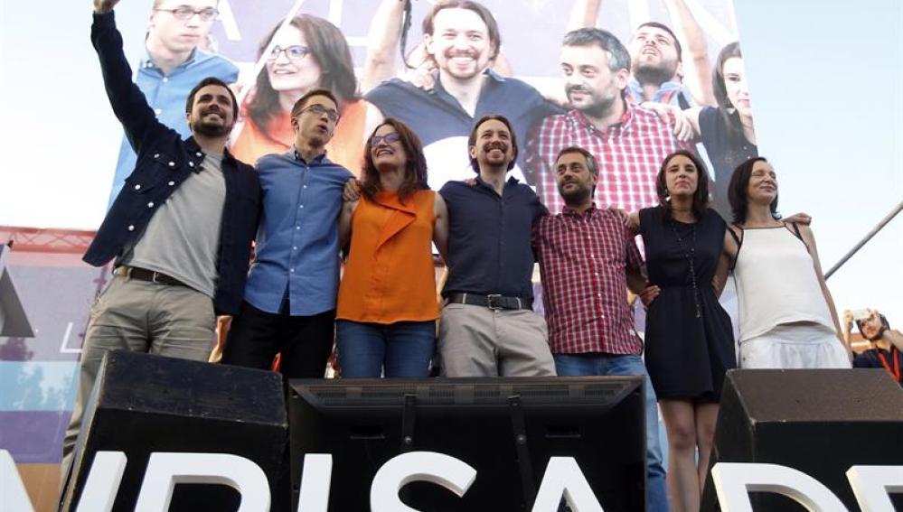 Cierre de la campaña electoral de Unidos Podemos