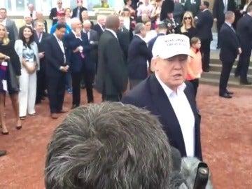 """Frame 3.78306 de: Donald Trump: """"Es grandioso que los británicos hayan salido de la Unión Europea para recuperar su país"""""""