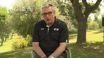 Michael Robinson, durante una entrevista