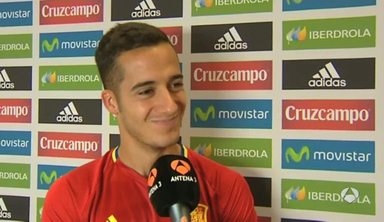 Lucas Vázquez valora cómo está la Selección y sus compañeros en la Eurocopa