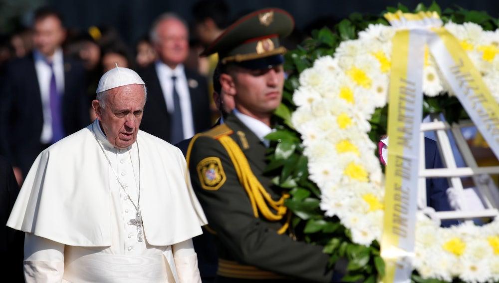 El Papa Francisco durante un acto de conmeración del genocidio armenio