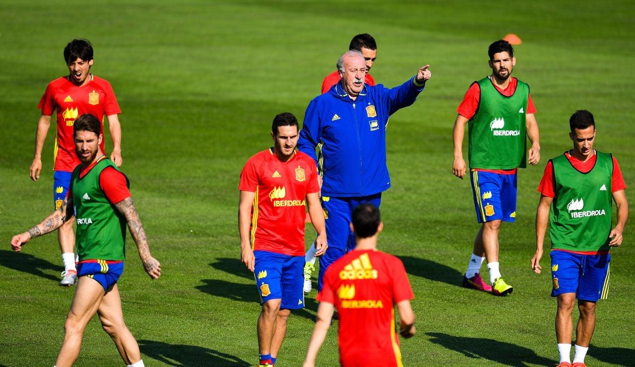 Entrenamiento de la selección española en la Isla de Ré