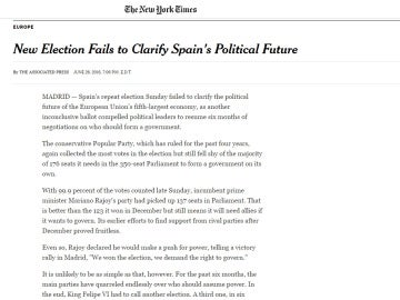 The New York Times recoge el 26-J