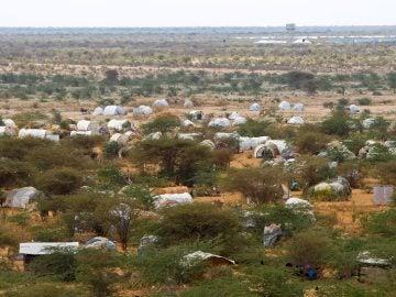 Vista del campo de refugiados de Dadaab, al noreste de Kenia
