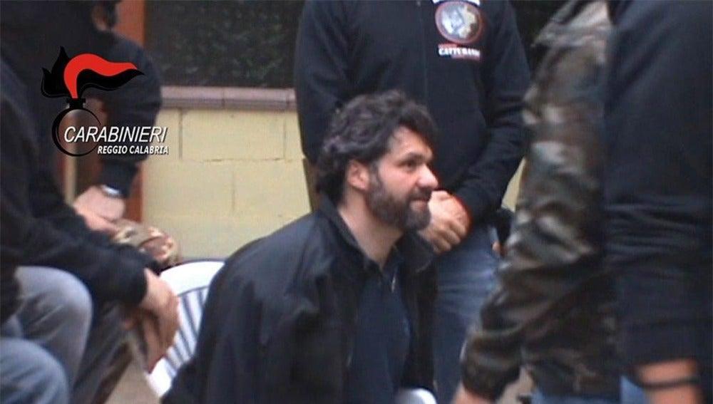 Ernesto Fazzalari, en el momento de su detención