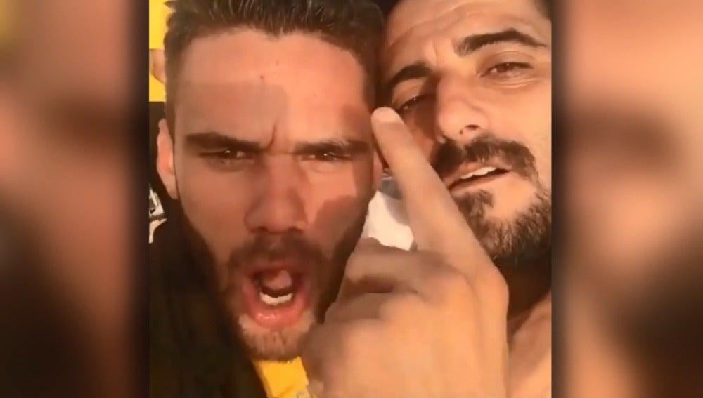 Los jugadores del Cádiz celebran el ascenso a Segunda