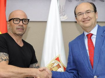 Jorge Sampaoli y Pepe Castro
