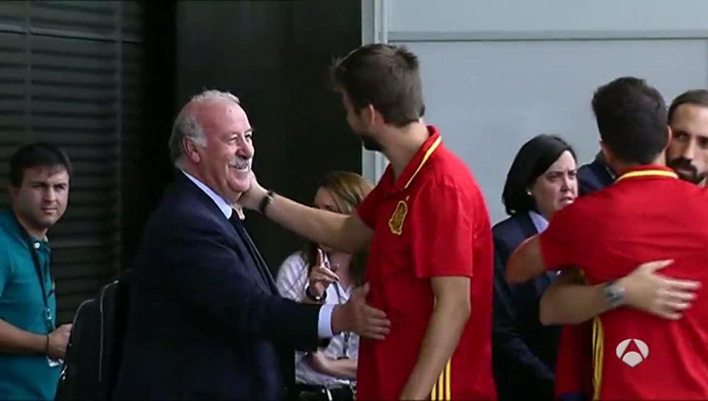 Vicente del Bosque y Piqué se despiden tras la Eurocopa