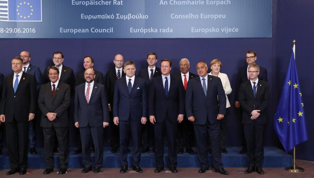 Los líderes europeos en el Consejo Europeo de Bruselas