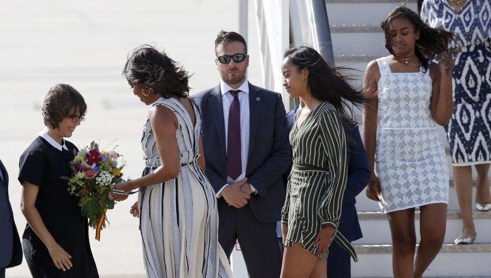 Michelle Obama llega a España