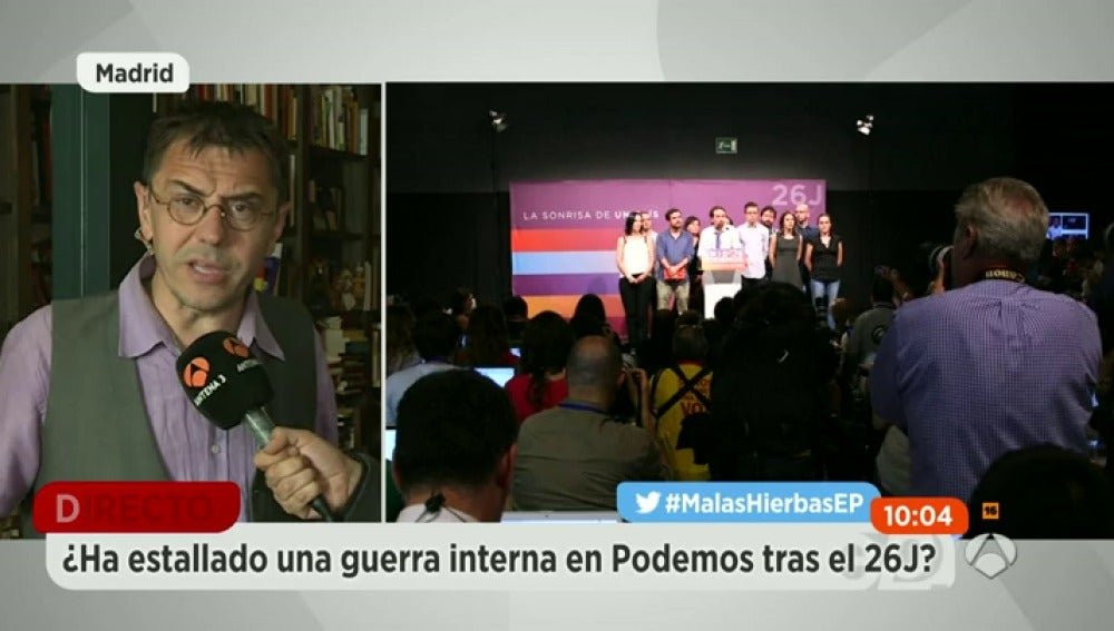 "Frame 0.0 de: Monedero: ""Unidos Podemos ha pecado de infantilismo"""