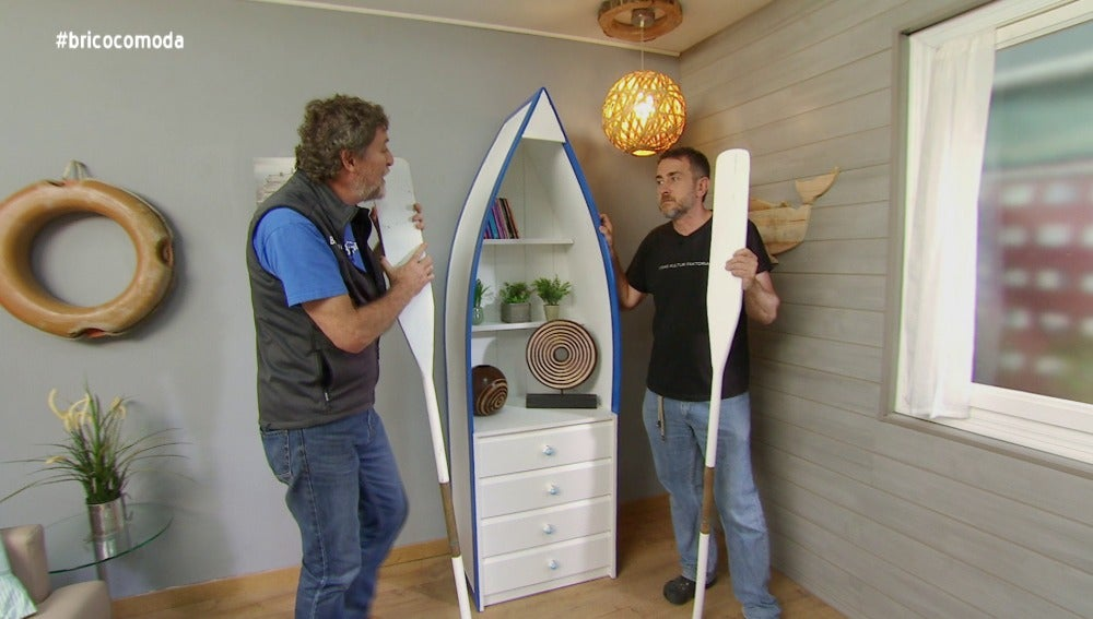 Antena 3 tv 39 bricoman a 39 realiza un barco c moda for Bricomania decoracion