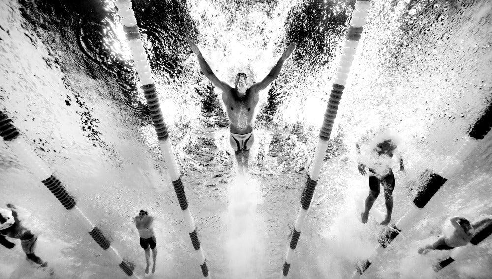 Michael Phelps, durante una prueba