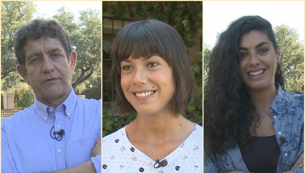 Pedro Casablanc, Andrea del Río y Nya de la Rubia en el rodaje de 'Mar de plástico'