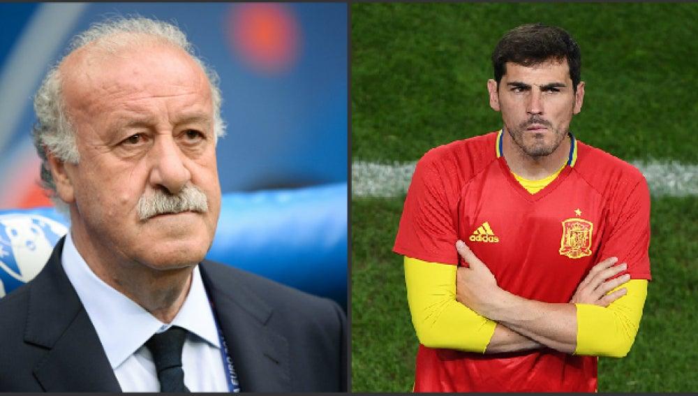 Del Bosque e Iker Casillas