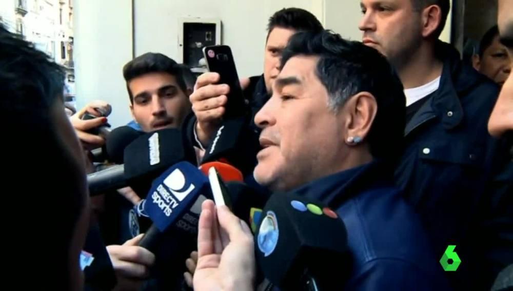 Maradona criticando a la AFA