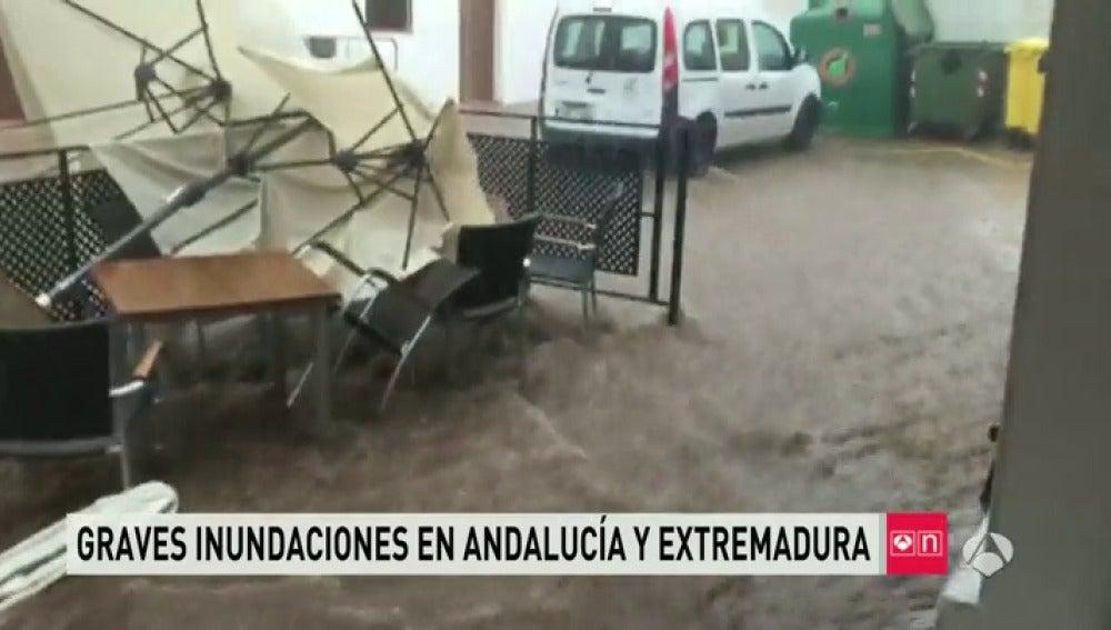 Inundaciones en Huelva y Badajoz