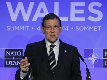 Mariano Rajoy en una cumbre de la OTAN