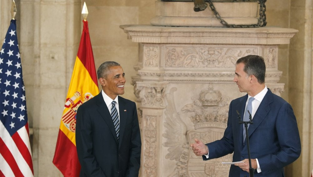 Barack Obama junto al Rey