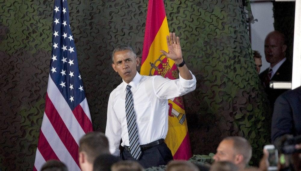 Obama, en la base de Rota