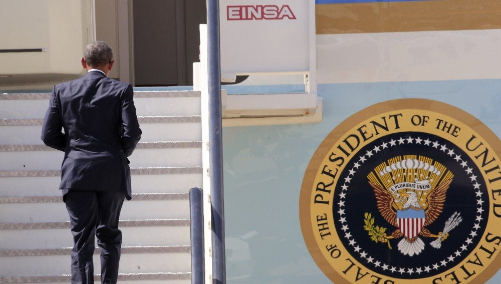 Obama se sube al Air Force One