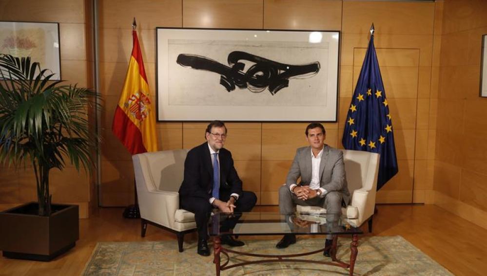 Reunión Rivera y Rajoy