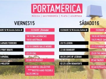 Horarios y escenarios del PortAmérica