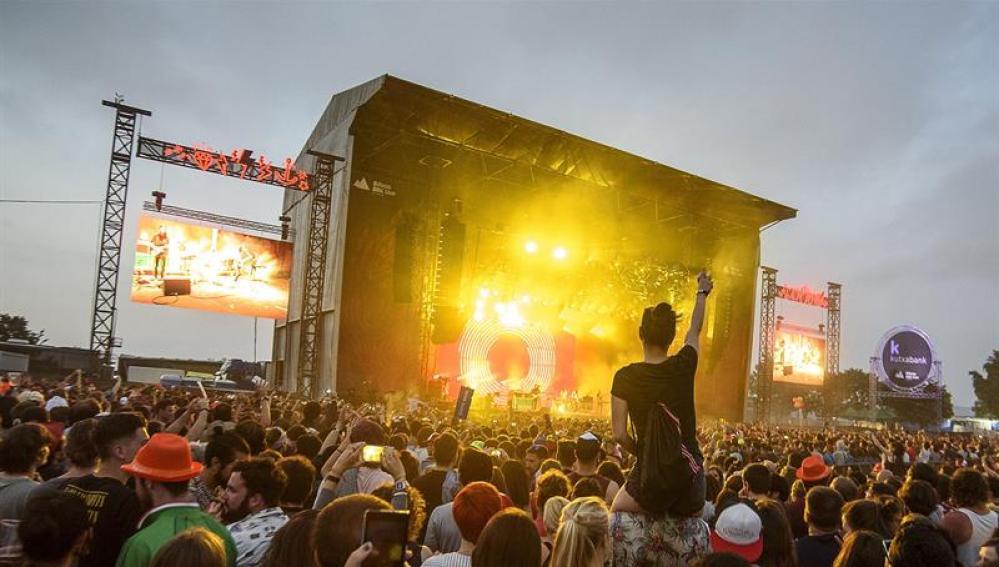 Imagen del escenario principal del festival BBK Live