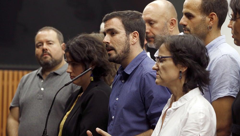 Alberto Garzón, en rueda de prensa