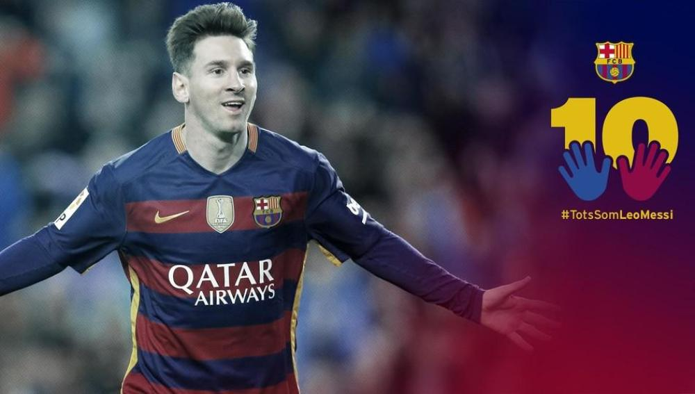 Imagen de la campaña 'Todos somos Leo Messi'