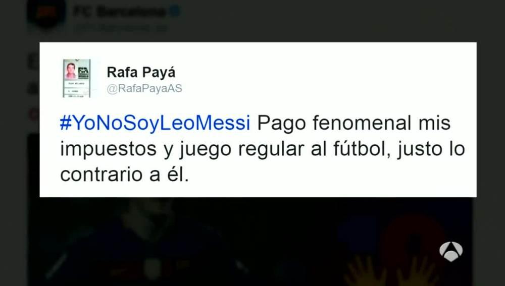 """""""Yo no soy Messi"""", mensaje en contra del fraude fiscal del argentino"""