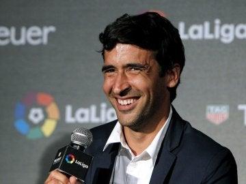 Raúl González, durante un acto de la Liga