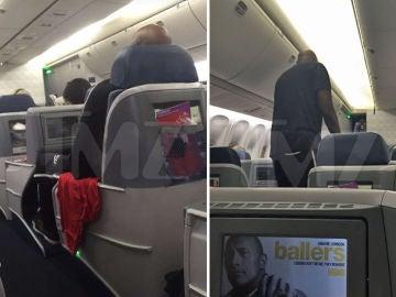 Lamar Odom, borracho en un avión