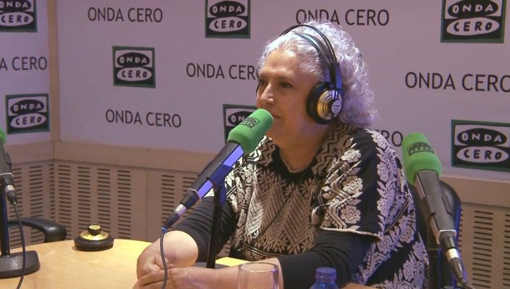 Laura Esquivel durante una entrevista en Onda Cero