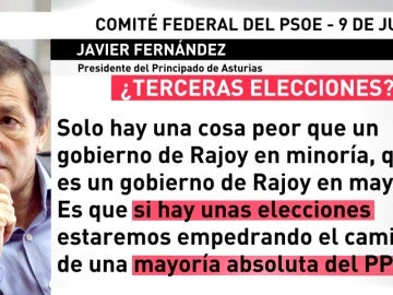 Frame 73.741714 de: Duras críticas del presidente de Asturias en el Comité Federal del PSOE