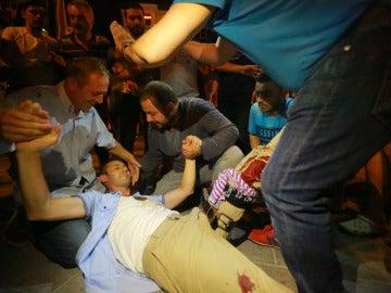 Heridos en los enfrentamientos en Turquía