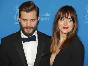 Los actores Dakota Johnson y Jamie Dornan