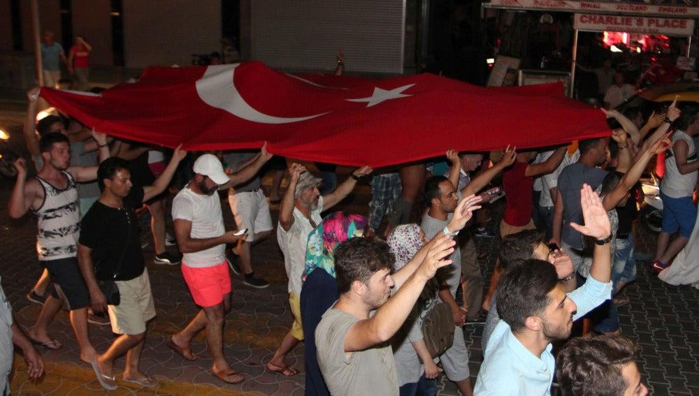 Marcha contra el Golpe de Estado en Turquía