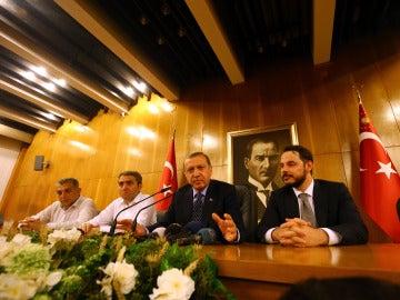 Erdogan durante su discurso en Estambul