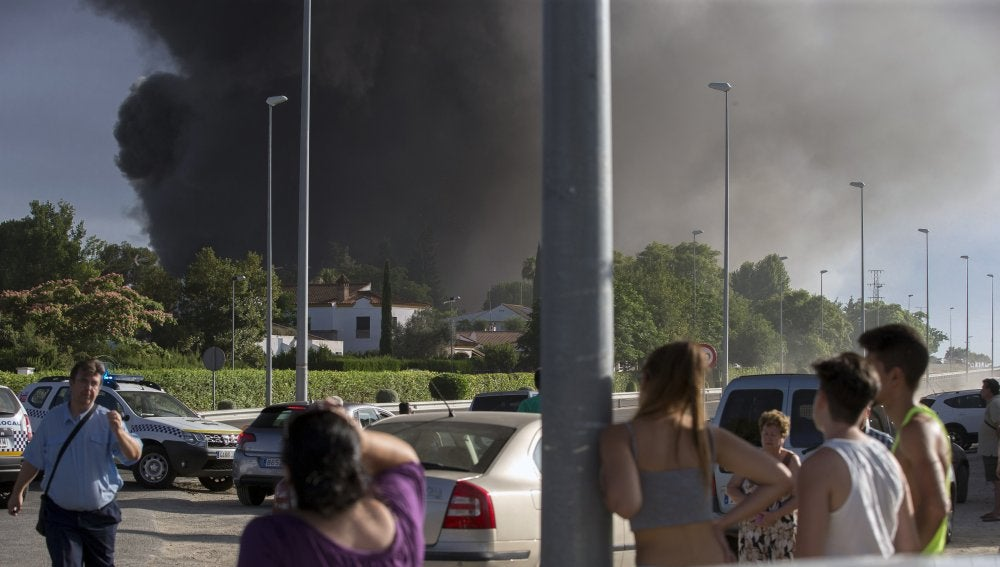 Incendio de la fábrica de Ybarra, en Dos Hermanas