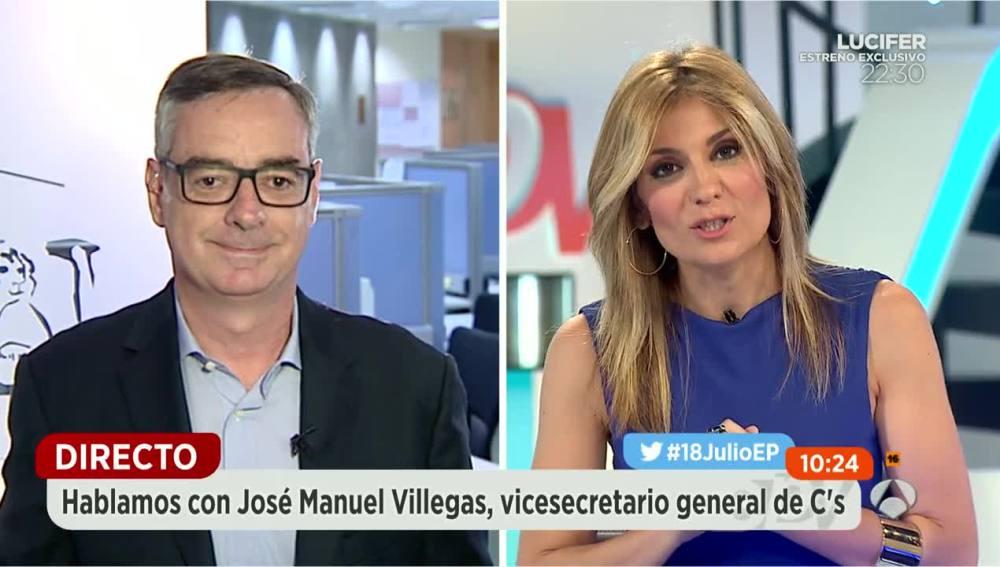 José Manuel Villegas y Sandra Golpe.
