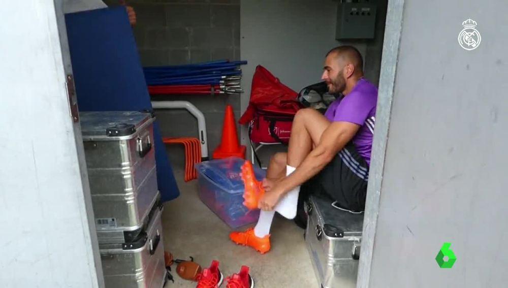 Benzema se calza las botas