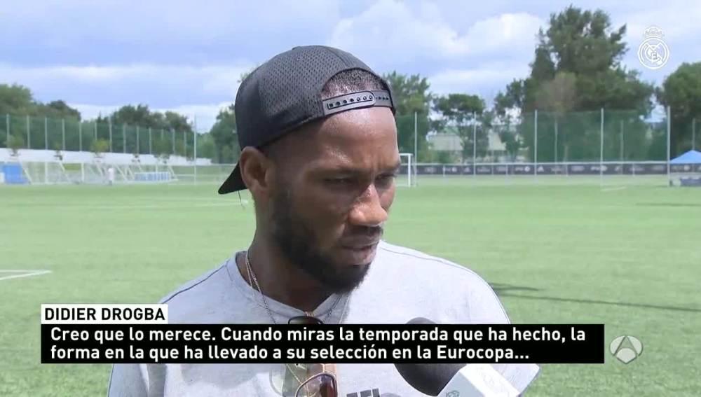 Drogba en la pretemporada del Real Madrid