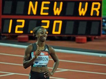 Kendra Harrison bate el récord del mundo en los 100 metros vallas