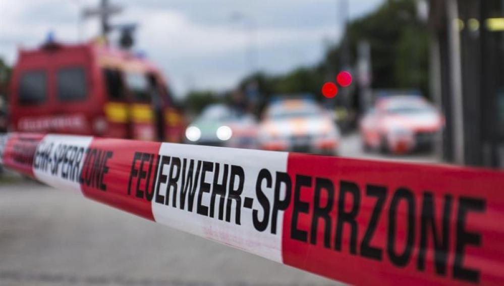 Cordón policial en Alemania