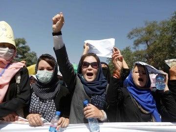 Manifestación de afganos