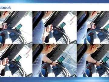"""Frame 6.712597 de: Conductor de autobús expedientado por """"cazar"""" pokemons al volante"""