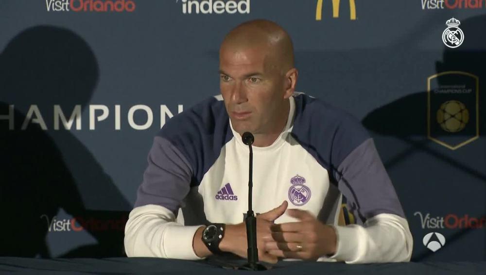 Zidane hablando sobre el fichaje de Podgba
